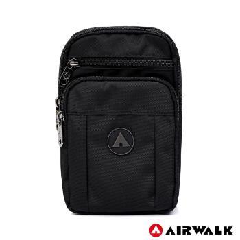 AIRWALK -自由無限休閒斜側包-黑色