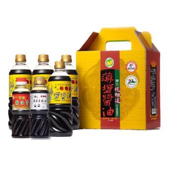 屏大薄鹽醬油均衡組(薄鹽醬油710ml*4+薄鹽醬油膏300ml*1+香菇素蠔油300ml*1 共6入/組)