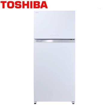 TOSHIBA東芝608L雙門變頻玻璃鏡面冰箱GR-WG66TDZ(ZW)
