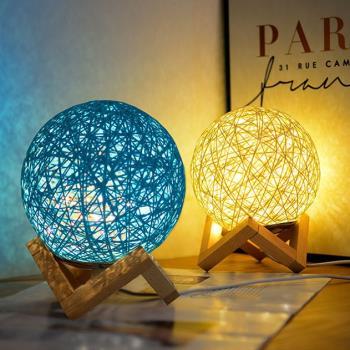 藤球裝飾燈 USB小夜燈 LED氣氛燈 床頭燈 造型燈 創意禮物