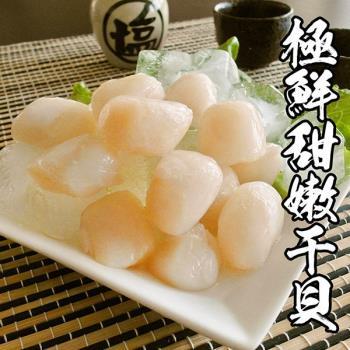 海鮮王 極鮮甜嫩干貝(海灣貝) *5包組(13-17顆/250g±10%/包)