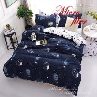 DUYAN竹漾- 台灣製天絲絨單人三件式舖棉兩用被床包組- 星際大戰