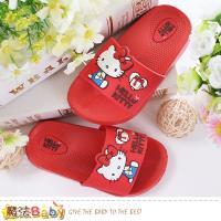 魔法Baby 女童拖鞋 Hello Kitty正版休閒拖鞋~sk0468
