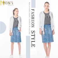 MONS個性長版時尚涼爽抗曬罩衫