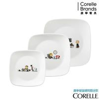 美國康寧CORELLE SNOOPY 繽紛童趣3件式兒童餐具組-C02
