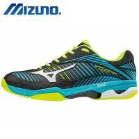 MIZUNO 美津濃 WAVE EXCEED TOUR 3 AC 男 職業級網球鞋 黑藍 61GA187025