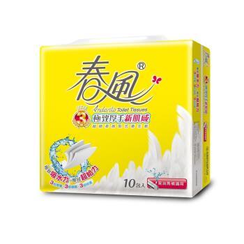 春風抽取衛生紙 三層極致厚手新肌感 (100抽x70包)
