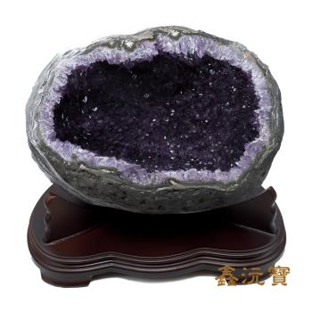 【鑫沅寶】頂級5A烏拉圭紫晶洞(12-14kg 款式、重量 隨機出貨)