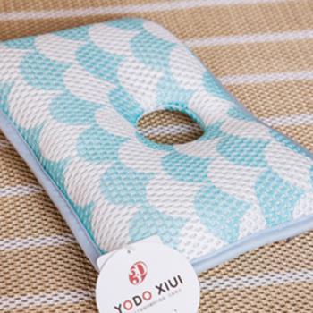日本YODO XIUI嬰兒枕頭定型枕3D透氣網眼兒童防扁頭枕