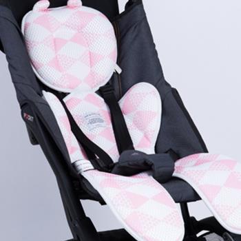 日本YODO XIUI嬰兒車涼墊3D透氣網眼雙層安全座椅透氣墊