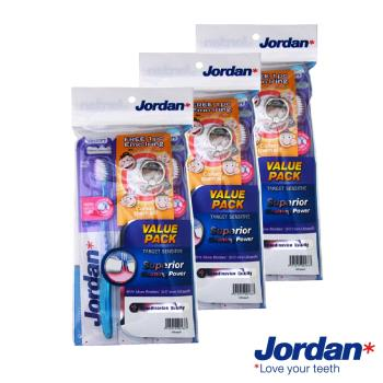 Jordan 超纖細敏感牙刷-超軟毛x2支x3組