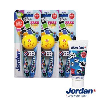 Jordan emoji 限定兒童牙刷(6~9歲)-Boy款x2入x3組