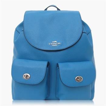 COACH 旅行必備 卵石皮革 / 背包 / 後背包_藍色
