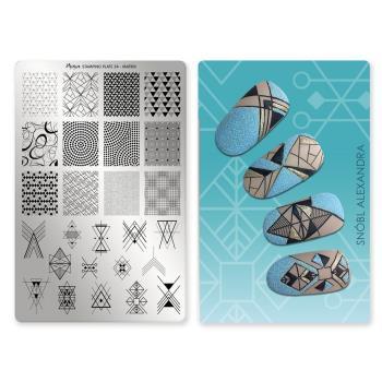 Moyra匈牙利指彩印花#54矩形陣列Matrix