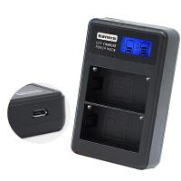 Kamera佳美能 液晶雙槽充電器for Sony NP-FM50,QM51,FM55H,FM500H (一次充兩顆電池)行動電源也能充