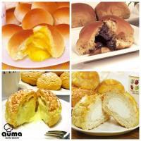 奧瑪烘焙 爆漿餐包點心組-奶油爆漿餐包10入+巧克力爆漿餐包10入+冰火菠蘿包8入+岩石泡芙8入
