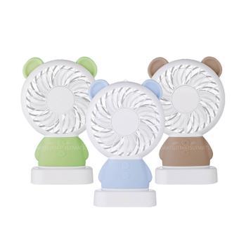 EASY Q 小熊造型隨身涼風扇 LED小夜燈+風扇- EQ-F56