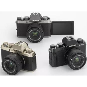 送64G+原廠電池+STC鋼化玻璃保護貼~FUJIFILM 富士 X-T100+15-45mm 電動鏡組(XT100,恆昶公司貨)