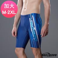 Heatwave熱浪 加大男泳褲 七分馬褲-藍洋391(M-2XL)