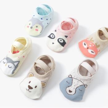 【三雙入】嬰兒襪 童襪 動物防滑襪地板襪襪船襪寶寶襪子