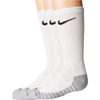 Nike 2018男女學童Dry Cushion白色中統運動襪3入組