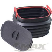OMAX多用途摺疊伸縮收納桶-1入(贈超值魔術頭巾-5入-顏色隨機)