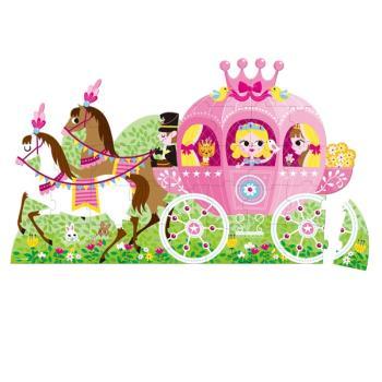 【法國Janod】地板大拼圖-公主與馬車39pcs