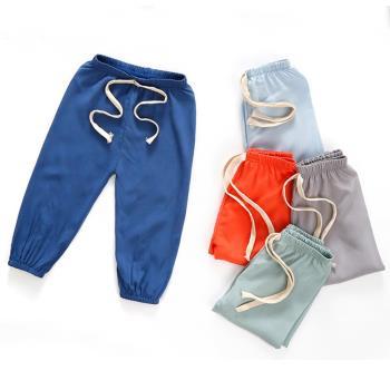 【3件入】兒童長褲 防蚊褲 薄款棉綢燈籠褲 縮口褲睡褲