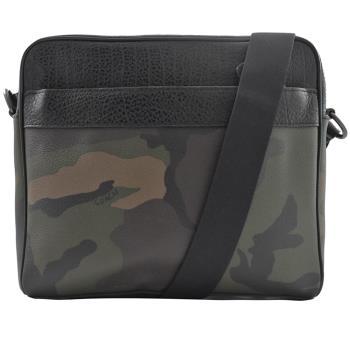 COACH 29052 限量迷彩防刮系列皮革織帶斜背包.黑邊