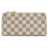 Louis Vuitton LV N41660 N60019 ZIPPY 白棋盤格紋拉鍊長夾 現貨