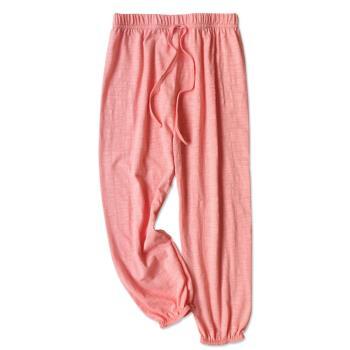 兒童長褲 防蚊褲 竹節棉薄款睡褲燈籠褲 縮口褲【2件入】