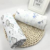 紗布包巾浴巾 竹纖維花紋嬰兒蓋毯空調被推車毯【2件入】