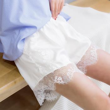 [ 美衣館 ] 睫毛花邊短褲 安全褲 防走光褲 女用內褲 外穿褲 蕾絲拼接