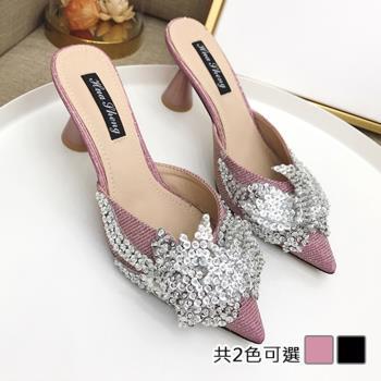 【Alice 】 (預購)    獨家款楚楚動人中粗跟鞋