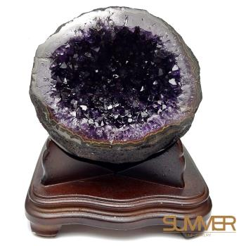 【SUMMER寶石】圓滿招財天然烏拉圭紫晶洞6-7KG(隨機出貨)