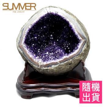 【SUMMER寶石】圓滿招財天然烏拉圭紫晶洞7-8KG(隨機出貨)