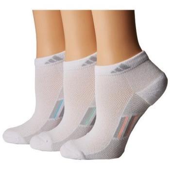 Adidas 2018女Superlite低切白運動雙色塊短襪3入組