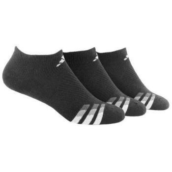 Adidas 2018男時尚Cushion無外秀黑色運動短襪3入組