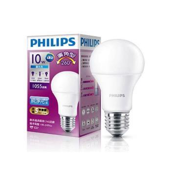 PHILIPS飛利浦 LED球型 10W廣角LED燈泡E27 白光/黃光 全電壓(12入組)