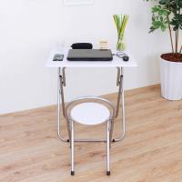頂堅 耐重型長方形折疊桌椅組 洽談桌椅組 餐桌椅組(1桌2椅)-二色可選