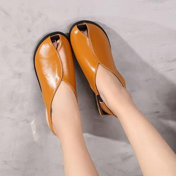 【Alice 】 (預購)    最潮韓風質感魚口平底鞋