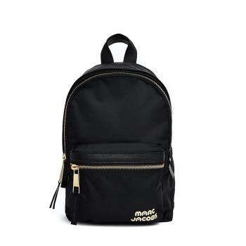 【Marc Jacobs】 Biker 品牌LOGO尼龍雙層後背包-大 (黑)