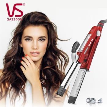 VS沙宣  32毫米晶漾魔力紅鈦金蒸氣二合一直捲髮棒 VSS-8000W