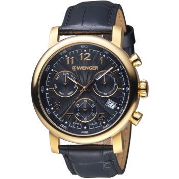 WENGER 都會系列雅痞風範三眼計時腕錶 01.1043.107