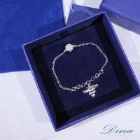 DINA JEWELRY蒂娜珠寶  時尚昆蟲系列 925純銀CZ鑽手鍊 (MJSM62751)