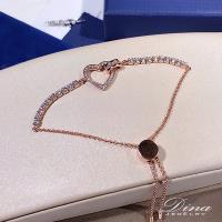 DINA JEWELRY蒂娜珠寶  時尚心鑽 925純銀CZ鑽手鍊 (MJSM53036)