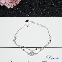 DINA JEWELRY蒂娜珠寶  包圍妳心 925純銀CZ鑽手鍊 ( SCS51857)