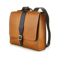 【The Leather Satchel Co.】英國原裝手工牛皮限量聯名款後揹包 手提包 後背包 (倫敦棕)