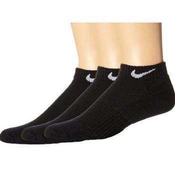 Nike 2018女時尚黑色低切運動短襪3入組