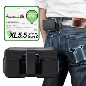 Achamber for HTC U12+/ 三星J6 /J4 /A6+ 真皮旋轉腰夾腰掛橫式皮套